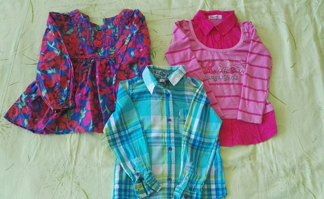 Rzeczy, ubranka 2-7 zł. 104,110,122. Bluzki, bluzeczki, tunika