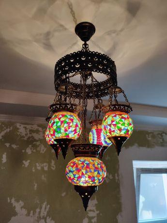 Турецкая люстра + светильники + лампадка