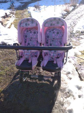 Дитяча коляска для близнюків (подвійна)