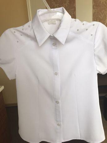 Bluzka koszula biala wizytowa 128