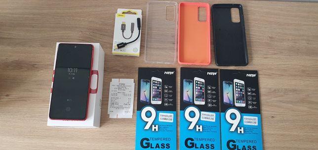 Samsung S20 FE 5G czerwony, 3x case, 3x folia, jack baseus