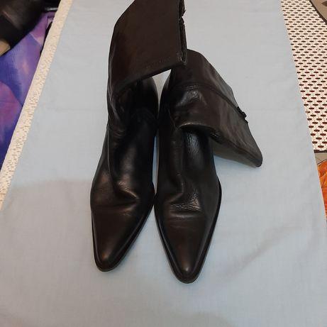 Kozaczki 40 nieocieplane buty skóra