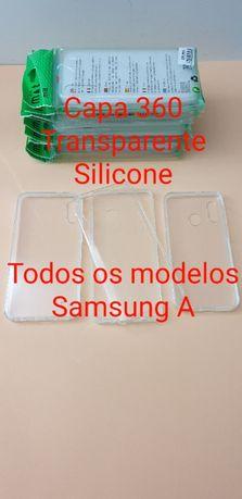 Capa 360 Transparente Silicone Samsung A ( TODOS OS MODELOS )