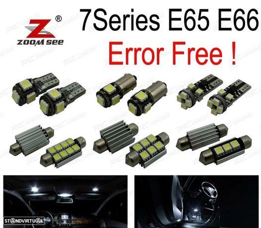 KIT COMPLETO DE 24 LÂMPADAS LED INTERIOR PARA BMW 7 SERIE E65 E66 745I 745LI 750I 750LI 760I 760LI
