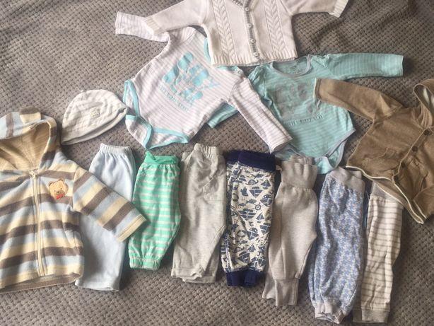 Paka ubrań, zestaw chłopiec, komplet, rozmiar 62-68, 2-6 miesięcy