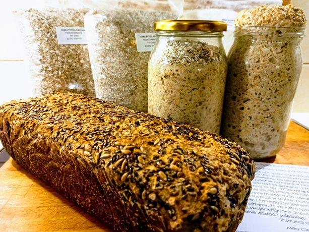 Pakiet do Pieczenia Chleba -Zakwas, Zestaw mąk, Instrukcja, Przepis,