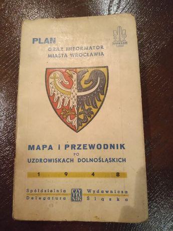 Plan i informator miasta Wrocławia z 1948r. z mapą