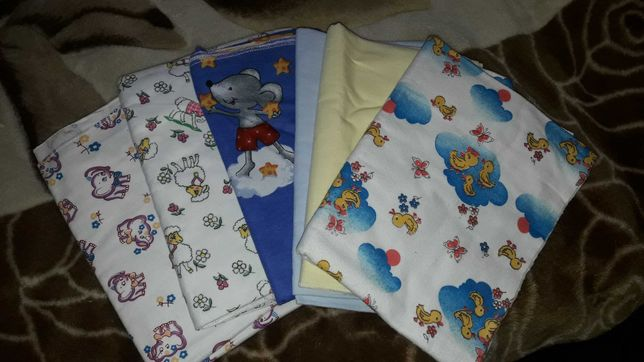 Пеленки  для новорожденных новые 120×90, 90×75