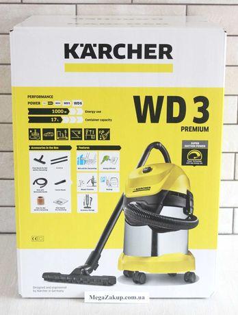 Пылесос Karcher WD 3 Premium Новый! гарантия! в наличии!