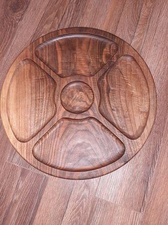 Тарілка з натурального дерева