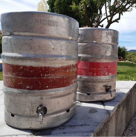 Depósito 50 lts inox Barril cerveja com torneira
