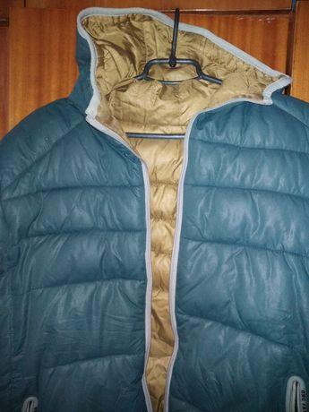 Мужская двух сторонняя куртка 46-48 размер