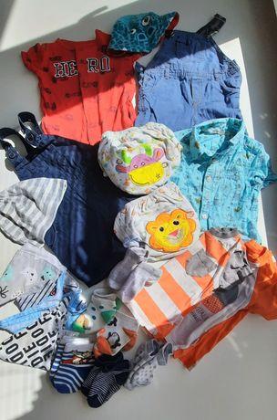 Пакет вещей на мальчика 6-9 месяцев 68-74 см на лето песочник комбез