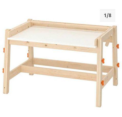 Biurko drewniane IKEA flisat