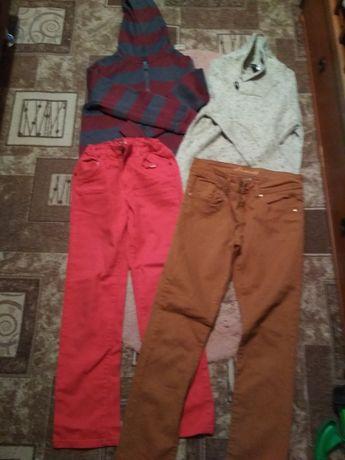 Кофты, свитера,джинсы 134-140 рост