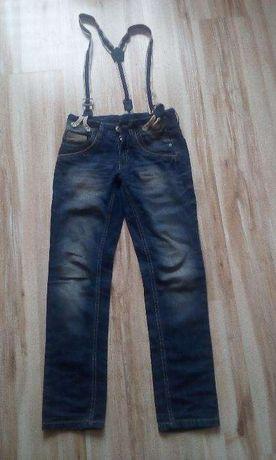 spodnie jeansowe chłopięce 146 cm