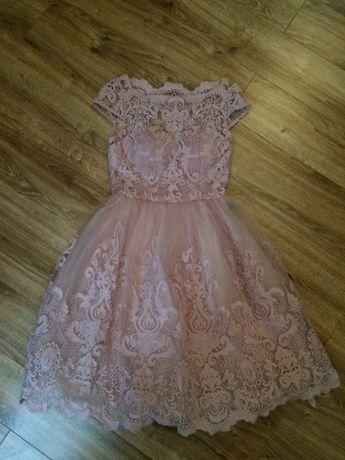 Sukienka pudrowy róż Chi Chi London rozm M