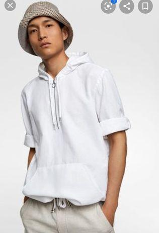 Koszula w rustykalnym stylu len Zara XL