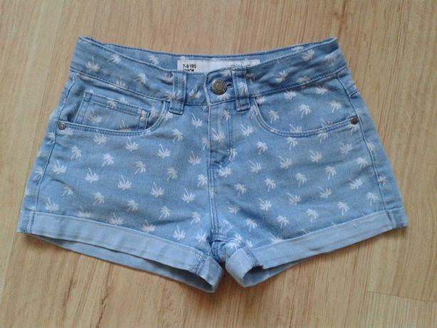 Krótkie spodnie w palemki