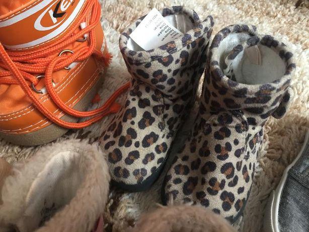 Тигровые ботинки на маленькую модницу h&m