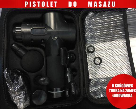 Pistolet do masażu MEGA mocny 1-30 poziomów mocy 6 końcówek OKAZJA