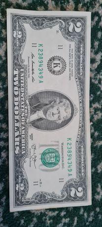 Два долари.купюра.