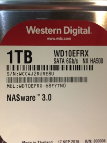 Red WD10efrx 1Tb HDD