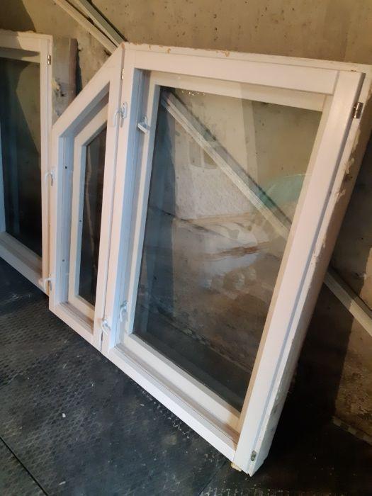деревянное двухрамное окно б.у.