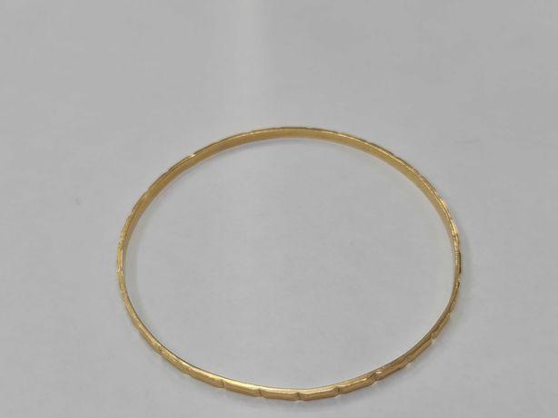 Wyjątkowa złota bransoletka damska/ 750/ Sztywna/ Owalna/ 9.23 gram
