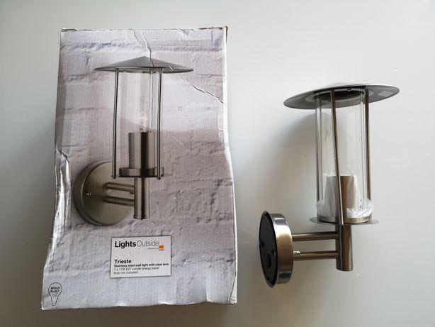 Lampa ogrodowa inox