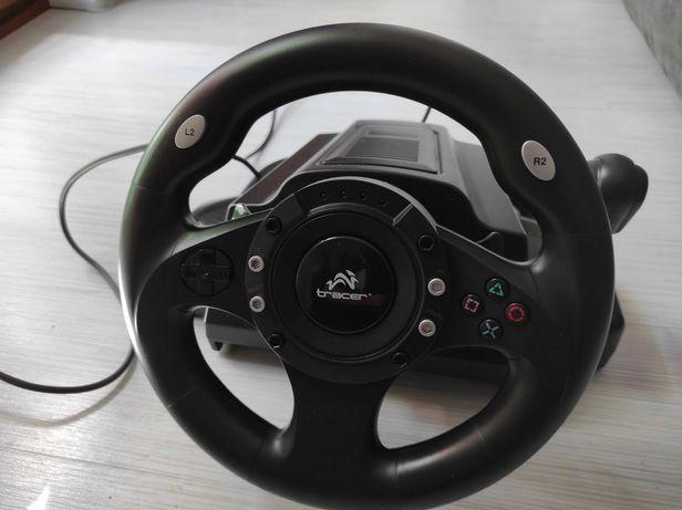 Kierownica firmy Tracer do konsoli PS2, PS3