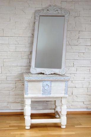 Drewniana toaletka z lustrem (komoda garderoba lustro szafka) zamiana