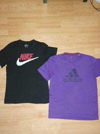 2 t-shirts Nike e Adidas, tamanho S