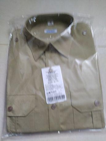 Koszulobluzy z długimi rękawami koloru khaki wz 310/MON i spodnie khak