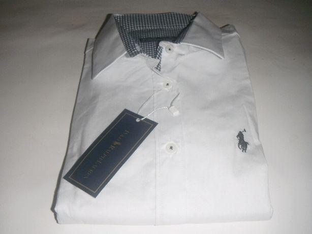 koszula polo ralph lauren biała taliowana