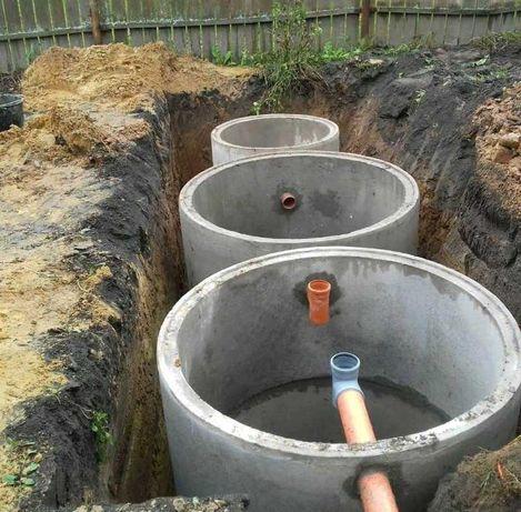 земляные и бетонные работы. сливные ямы. вода и канализация