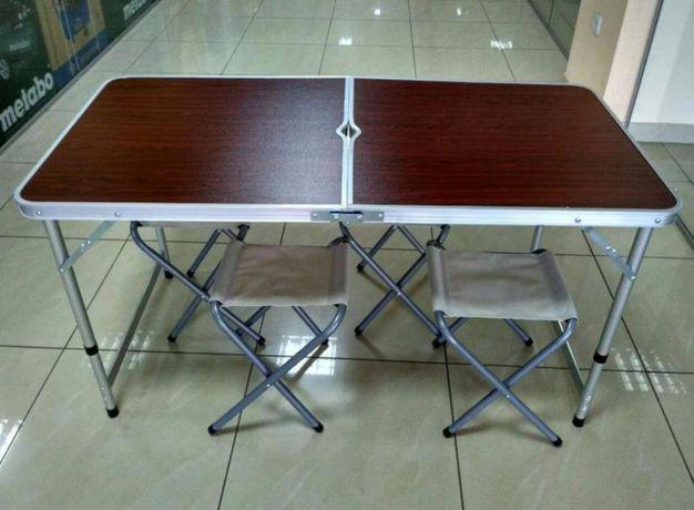 Усиленный стол складной и стулья новые