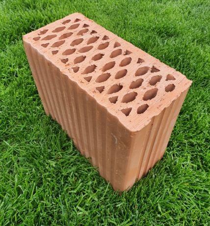 Cegła Ceramiczna połówka 11 12 DZ Kl 20 działówka kratówka 25x12x220
