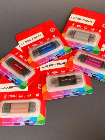 Двусторонняя флешка USB - USB Type C, 64GB, Jaster Flash