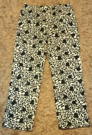 Spodnie polarowe czarno-białe , jak nowe rozmiar 40-42
