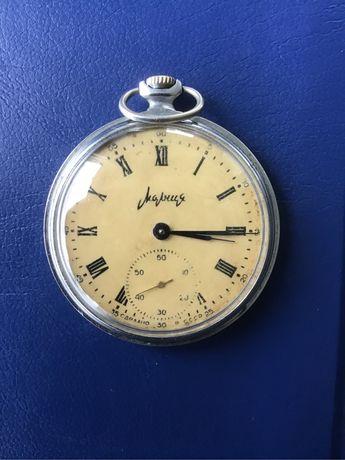 """Stary radziecki, mechaniczny zegarek kieszonkowy """"Molnija"""" sprzedam."""