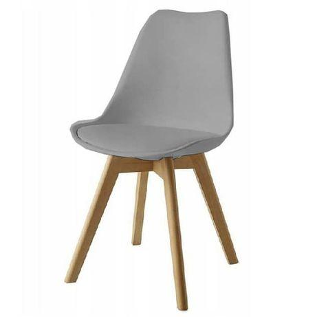 Krzesła kubełkowe hokery skandynawski styl tapicerowane plastikowe