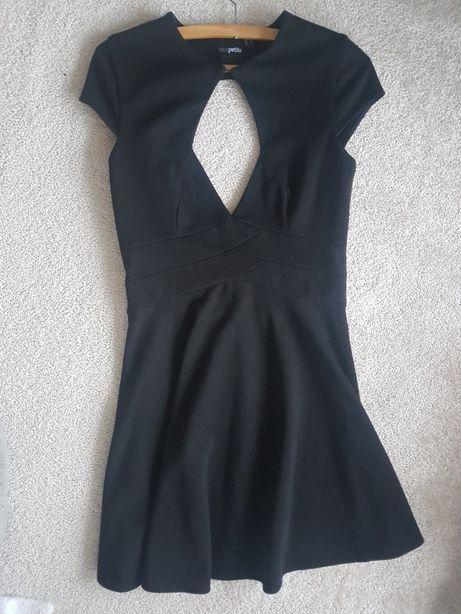 Asos sukienka piękny dekold mała czarna
