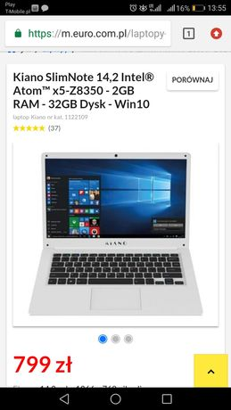 Laptop Kiano SlimNote 14.2 silver