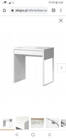 Ikea Micke białe biurko toaletka