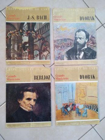 4 livros com LPs de música clássica anos 60