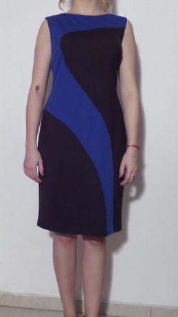 Sukienka czarno niebieska rozmiar 40 Donna Morgan