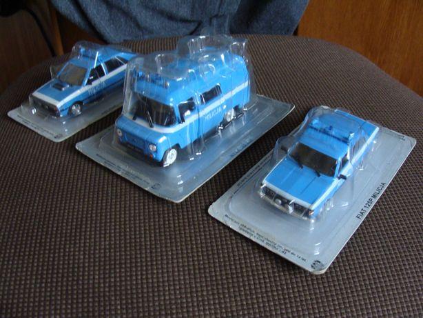 Kultowe Auta PRL Nysa,Polonez,Fiat 125p model Deagostini skala 1:43