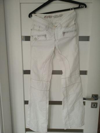 Białe spodnie marki Esprit rozmiar 34/36