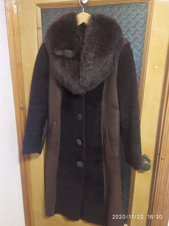 Дубленка женская, куртка, натуральный мех. Женское пальто. Зимняя.
